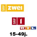 TV Nutzung Schweiz - SRF2 erstmals vor SRF1